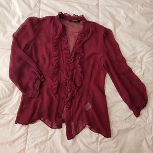 100% Silk Button Down Blouse